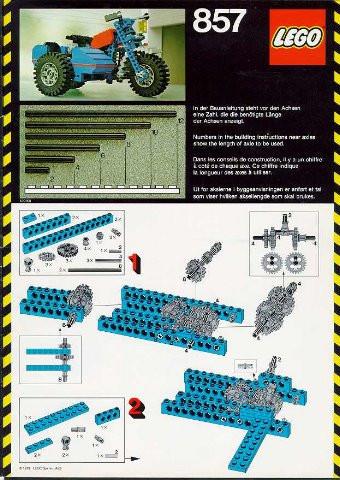 INS857-G 857 BOUWBESCHRIJVING Motorcycle gebruikt *