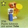 Set 3711-G - Fabuland: Pierre Pig and his Tuba -/-/100%- gebruikt