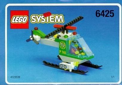 Set 6425 BOUWBESCHRIJVING- TV chopper gebruikt loc LOC M2