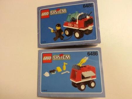 Set 6486 BOUWBESCHRIJVING- Fire Engine gebruikt loc LOC M2