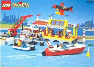Set 6543 BOUWBESCHRIJVING- Sail 'n Fly Marina gebruikt loc