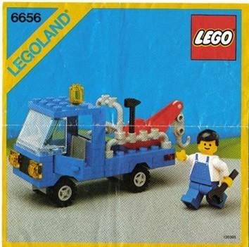 Set 6656 BOUWBESCHRIJVING- Wrecker Unit I gebruikt loc LOC M3