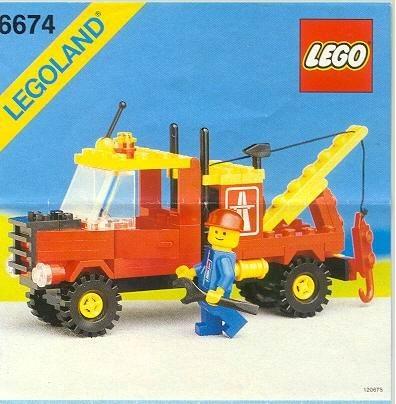Set 6674 BOUWBESCHRIJVING- Crane Truck Helikopter gebruikt loc LOC M3