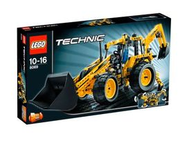 Set 8069 - Construction: Backhoe Loader- Nieuw