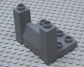 51698-85 DUPLO OPRIT plaat 3x4x2 1/3 grijs, donker (blauwachtig) NIEUW *