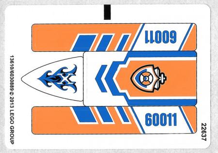 60011stk01a STICKER 61011 Surfer Rescue NIEUW *0S0000