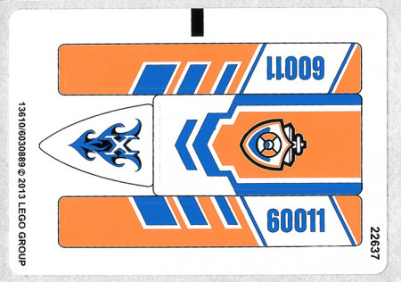 60011stk01a STICKER 61011 Surfer Rescue NIEUW loc