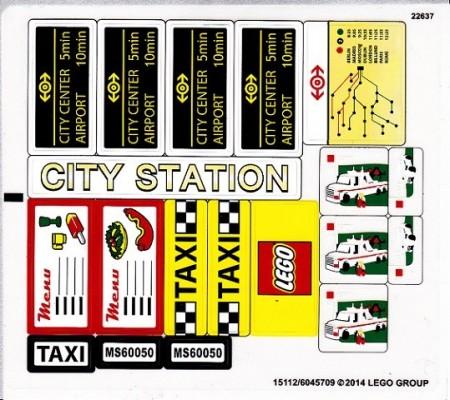 60050stk01 STICKER 60050 Train Station NIEUW *0S0000