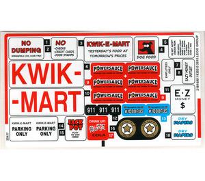 71016stk01 Kwik E-market sticker 1 (Kwik market) NIEUW loc