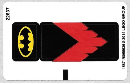 76011stk01 STICKER 76011 Batman: Man-Bat attack NIEUW loc