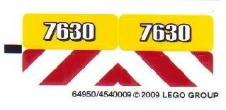 7630stk01 STICKER Shovel NIEUW *0S0000