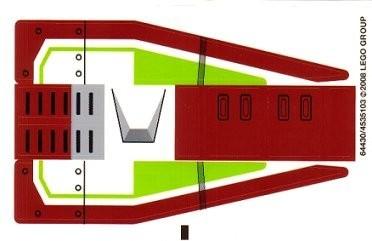 7679stk01 STICKER STAR WARS Rebublic Fighter Tank NIEUW loc