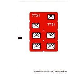 7731stk01 STICKER Mail Van (brievenbus) NIEUW loc