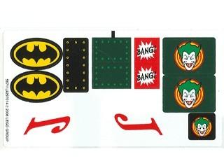 7782stk01 STICKER: BATMAN- Batmobile NIEUW *0S0000