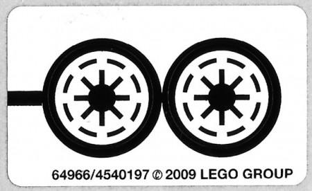 8014stk01 STICKER STAR WARS Clone Walker Battlepack NIEUW *0S0000