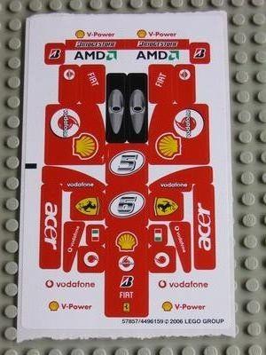8142stk01 STICKER Ferrari 248 F1 1:24 NIEUW *0S0000