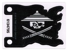 bb706pb01-12 Vlag 7x5 Witte Ninjago piraat Transparant NIEUW loc