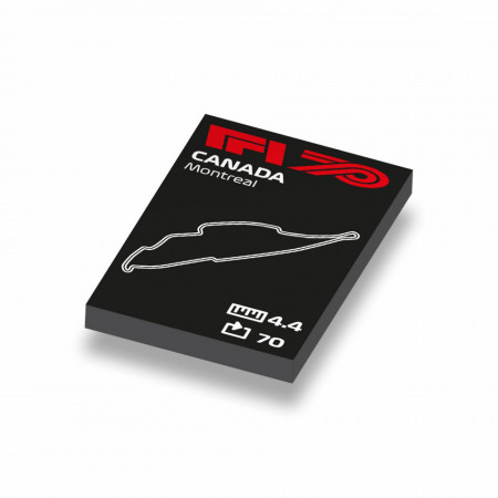 CUS1040 Formule 1 circuit Canada wit NIEUW loc Motorsport