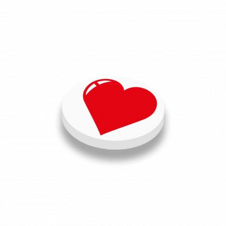 CUSE8171 Valentijn- Hartje rond 1x1 Wit *0A000