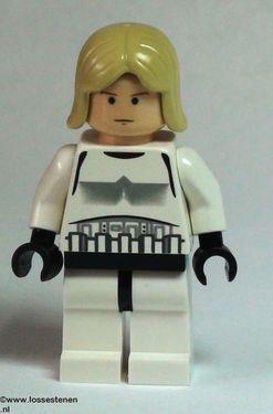 LEGO sw204 Star Wars:Luke Skywalker- stormtrooper outfot NIEUW loc