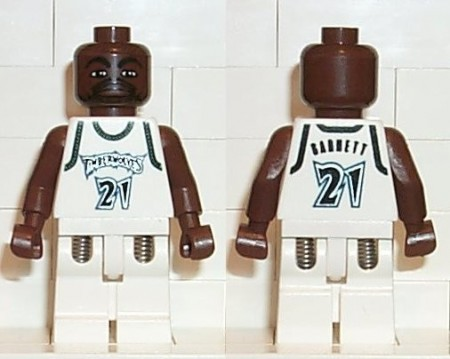nba019G NBA Kevin Garnett, Timberwolves #21 gebruikt loc