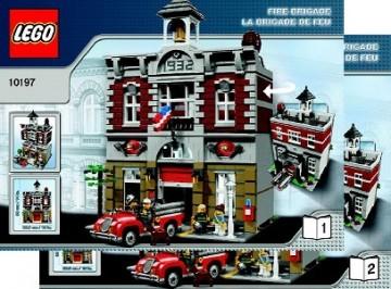 Set 10197 BOUWBESCHRIJVING- Fire Brigade gebruikt loc