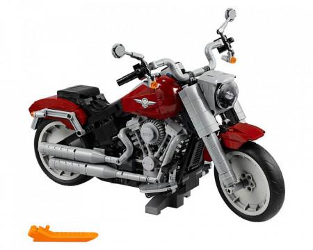 Set 10269-GB Harley-Davidson Fat Boy gebruikt deels gebouwd *B036