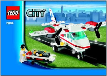 Set 2064- Ambulancevliegtuig - Nieuw