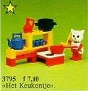 Set 3795-G - Fabuland: Catherine Cat in het kitchen -/-/100%- gebruikt