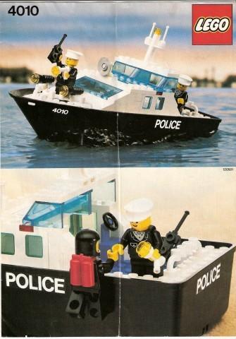 Set 4010 BOUWBESCHRIJVING- Politie reddingsboot gebruikt loc LOC M1