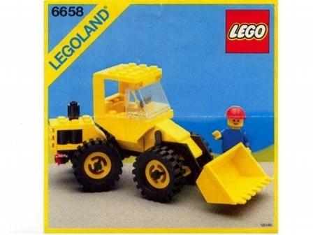 Set 6658 BOUWBESCHRIJVING- Bulldozer gebruikt loc LOC M3