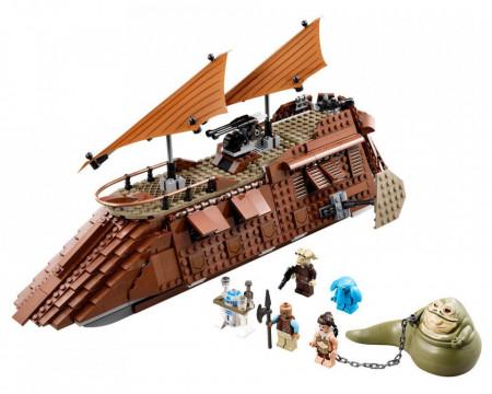 Set 75020-GB Jabba's Sail Barge gebruikt deels gebouwd *B036