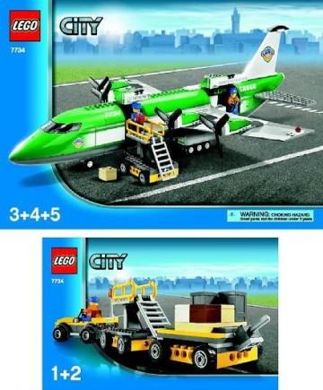 Set 7734 BOUWBESCHRIJVING- Town: Airport cargo Vliegtuigen gebruikt loc