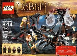 Set 79001 - Lord of the Rings: Escape from Mirkwood Spiders- Nieuw