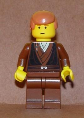 sw100 Star Wars:Anakin Skywalker (Grown Up) ZONDER Cape Bruin vest, oranjebruin haar NIEUW loc