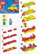 Set 4546 BOUWBESCHRIJVING- Wegonderhoud Treinen Auto gebruikt loc
