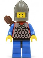 cas151aG Scale Mail - rode, Gray Chin-Guard, blauw benen met pijlhouder gebruikt loc