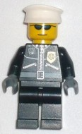 cty0174G Politie-agent, twee ritsen, zilveren zonnebril, witte pet gebruikt loc