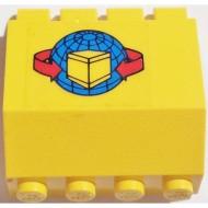 2582pb07-3G Scharnierpaneel 2x4x3 1-3v Sticker pakje Geel (gebruikt)