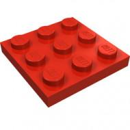 11212-5 Platte plaat 3x3 rood NIEUW *5K0000