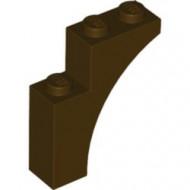 13965-120 Steen, halve boog 1x3x3 (hoger model) (trapsgewijs) bruin, donker NIEUW *