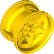 15038-3 Wiel 56mm Technic Racing midden, 6 pingaten ALLEEN VELG geel NIEUW *5W000