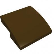 15068-120G Dakpan rond 2x2x2/3 geen noppen afgerond bruin, donker gebruikt *1L278