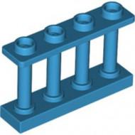 15332-153 Balustrade-hek 1x4x2 met VIER noppen bovenop blauw, donkerazuur NIEUW *1L16-9