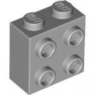 22885-86 Steen 2x2 met noppen aan één zijde grijs, licht (blauwachtig) NIEUW *1L2-13