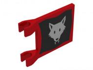 2335p044-5G Vlag 2x2 Wolfpact rood gebruikt *