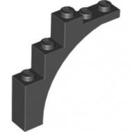 2339-11G Steen, halve boog 1x5x4 (trapsgewijs) zwart gebruikt *R7