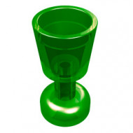2343-20G Bokaal transparant groen gebruikt *0L0000