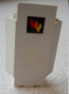 2345pb09-1G Kasteelmuur 3x3x6 hoek met brandweer logo Geel gebruikt loc
