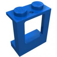 2377-7G Raam 1x2x2 in paneel- 2 gaten onderin- glas:4862 (loc 04-04) blauw gebruikt *1L0000